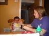 Feeding Cameron